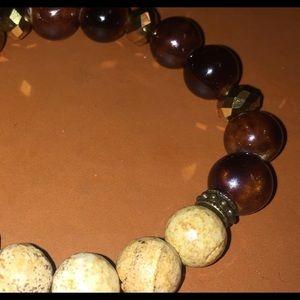 Jewelry - Earth stone & ceramic bracelet